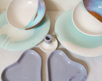 Service of glazed ceramic dishes SCONTO DI 15 EURO !!