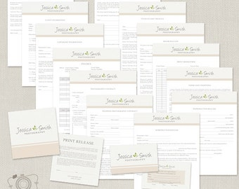 Photography Business Forms and Contracts - Model Release, Print Release, Order Forms - C143