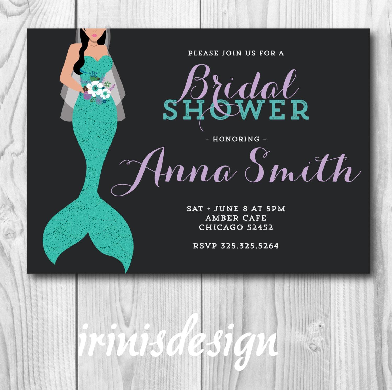 Mermaid Bridal Shower Turquoise Teal Bride Wedding Party