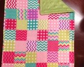 Set of 2 Chevron Burp cloths for a Girl