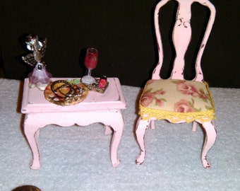 REDUCED! Dollhouse Miniature 1:12 Scale Chair or Side Table