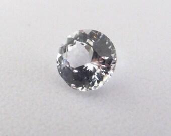 Ceylon Natural White sapphire loose gemstone round cut 1.55 cts.