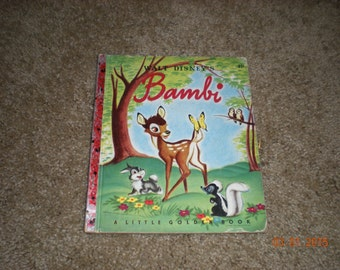 Rare Walt Disney Bambi Little Golden Book D7