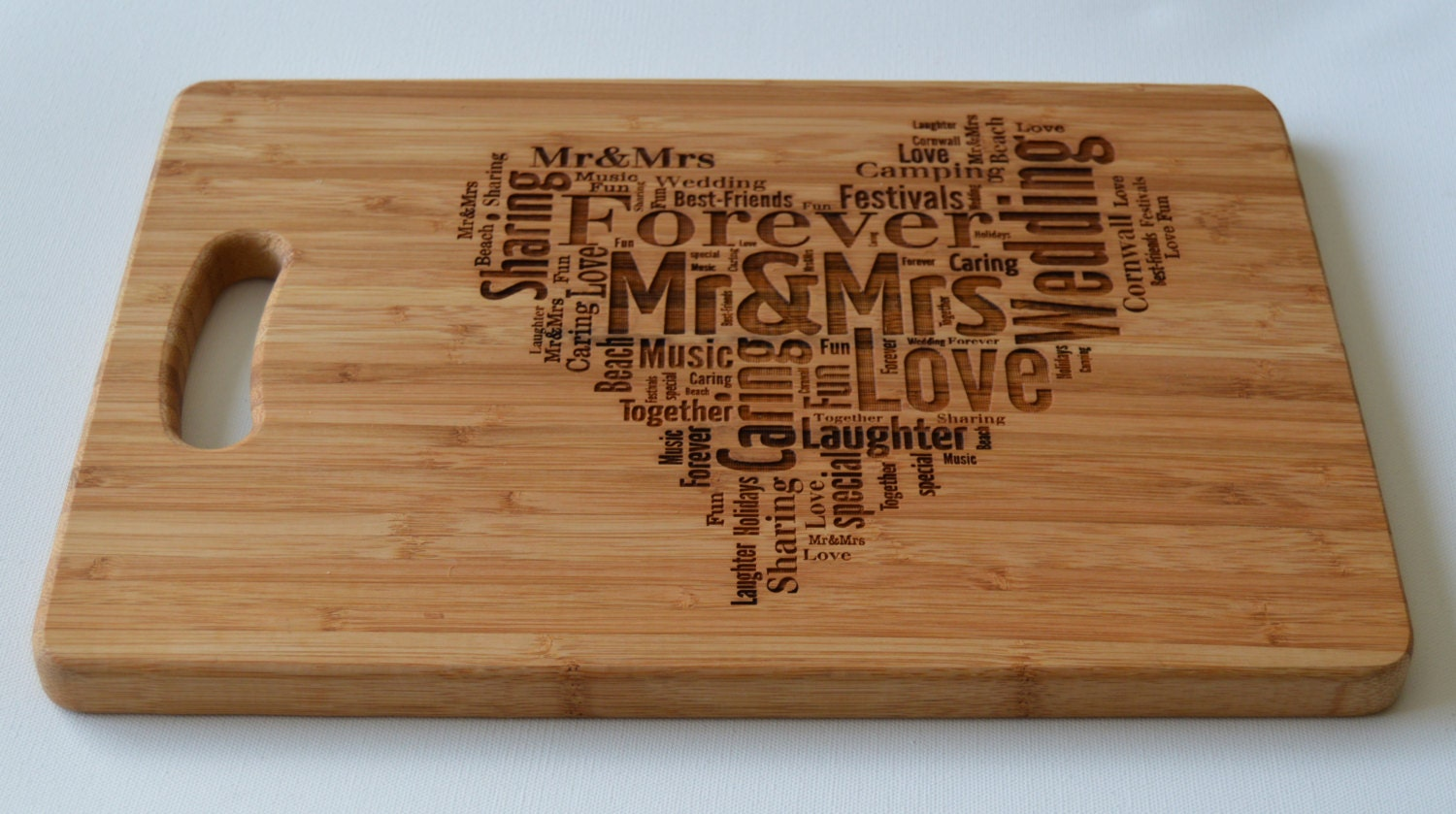 Engraved large solid wooden chopping board cutting board cheese board - Engraved wooden chopping boards ...