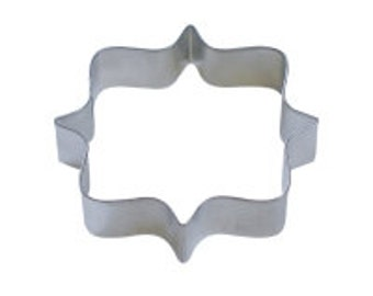 "Square Plaque 4.25"" Cookie Cutter"