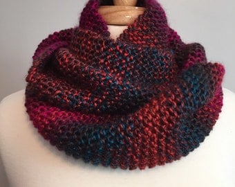 Infinity cowl scarf multi color warm