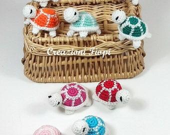 Crochet PATTERN 242 amigurumi  turtle crochet turtle keychain. Crochet keychain, Turtle crochet(Permission to sell finished items), Pdf