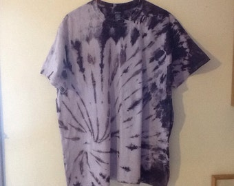 Adult x-large dark purple tie dye shirt