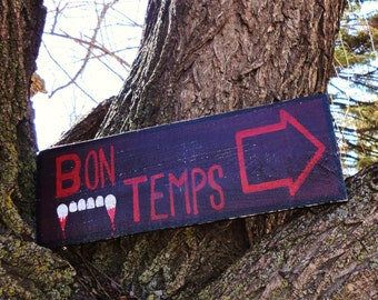 Bon Temps Wooden Directional Sign - Made to Order