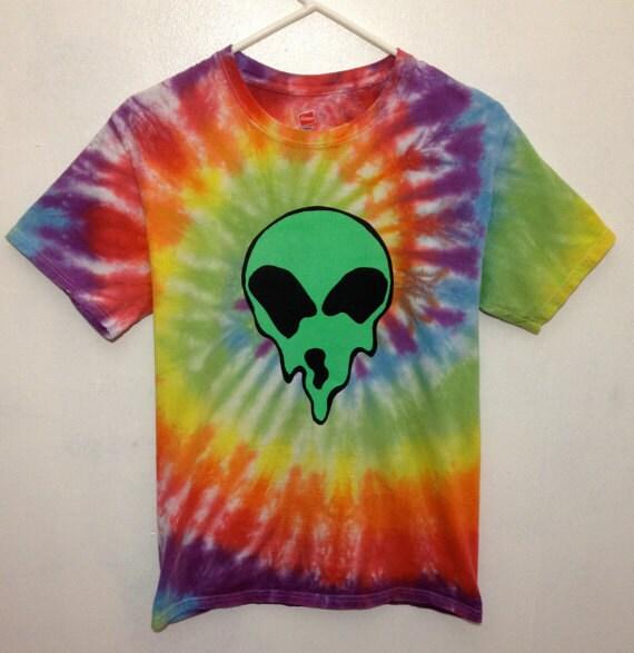 trippy melting tie dye t shirt