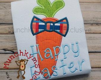 Carrot Bow Tie Applique