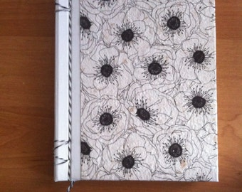 Hand-bound diary in recycled paper