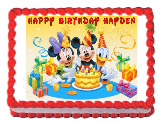 mickey mouse sheet cake mickey mouse clubhouse edible cake image cake topper frosting 5887