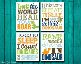 Dinosaur Wall Art. Dinosaur Wall Decor. Children's Wall Art. Little Boys Wall Art. Dinosaur Decor. Boys Room. Dinosaur Nursery. Dino Theme.