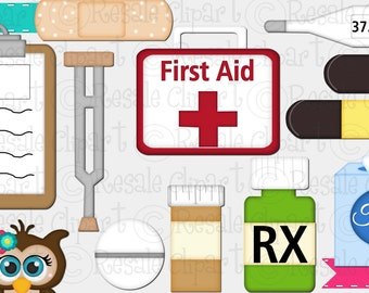DIGITAL SCRAPBOOKING CLIPART - First Aid 1