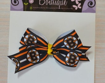 Boutique Style Hair Bow - Boston Bruins