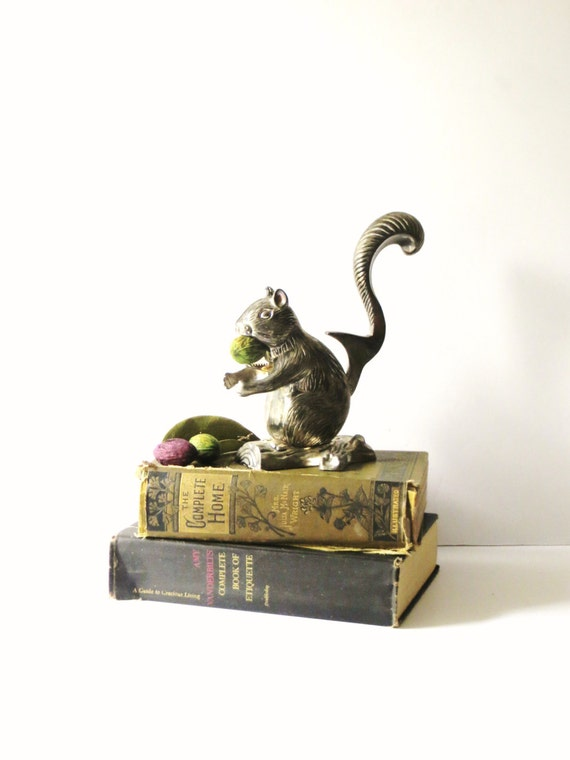Vintage godinger squirrel nutcracker cast silver squirrel - Nutcracker squirrel ...