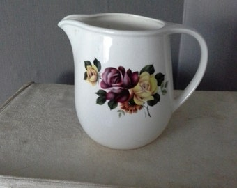 vintage jug with roses made in Romanina
