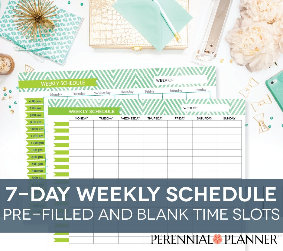 weekly day planner
