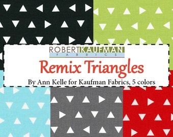 Remix Triangle Fat Quarter Bundle - includes 5 fat quartersby Ann Kelle for Robert Kaufman Fabrics