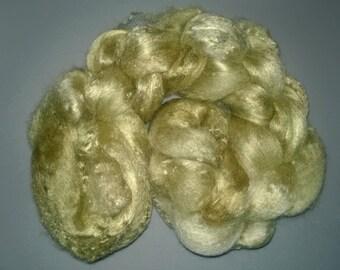 Pearl Infused Rose fiber- Eco Friendly- Nano Pearl Dust - Moss