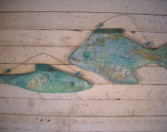 the fish that got away and swam to HOLLYWOOD original mixed media