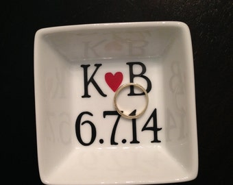 Wedding Gift - Personalized Ring Dish - Ring Holder