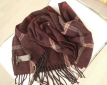 Vintage MASSIMO DUTTI 100%WOOL Men Cave Scarf,Made in Italy