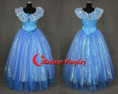 Cinderella Dress, Cinderella Cosplay Costume, Cinderella 2015 Cosplay Costume For Girls