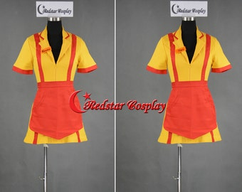 Adult TV Show Two 2 Broke Girls Max / Caroline Diner Waitress Cosplay Costume - Custom made in any size