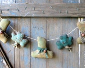 Primitve Shamrock Garland-Primitive St Patricks Hat Garland-St'Patrick's Garland-Primitive Decor-St Patricks Day Primitives