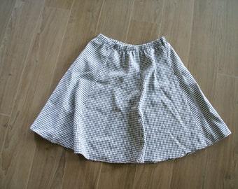 Houndstooth High Waisted Skirt