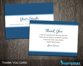 Father's Day Photography Thank You Card Template - Photography Photoshop Templates PSD TY005