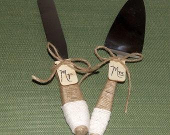 Woodland Wedding Cake Serving Set / Personalized / Rustic Wedding Cake  Set / Country Wedding Cake Cutting Set / Wedding Pie Cutting Knife
