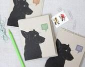 Dog Says Hi // Blank Note Cards // Set of 3 Cards // Illustrated Dog Note Cards // Modern Stationery