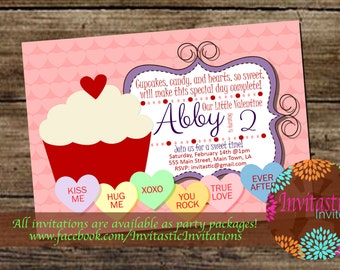 Valentine's Day Birthday Invitation-Valentine's Candy Themed Birthday Party Invitation. Colorful Candy and Sweet Shop Customizable Invite