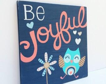 Woodland Nursery Decor - Nursery Wall Art - Owl Nursery - Gift for New Baby - Baby Shower Gift - Owl Art - Wood Sign - Nursery Art - Wooden