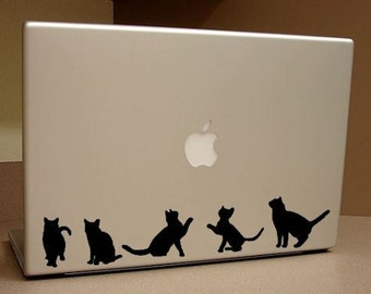 Cat Stickers Silhouette Cat-Shaped Vinyl removable Decals Laptop Car Home