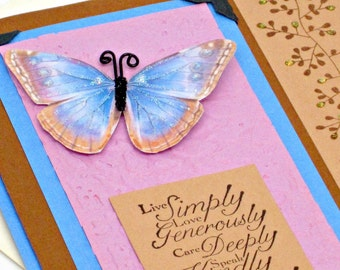 All Occasion Card with Removable Bookmark and Bath and Body Gift of your choice-  One of a Kind