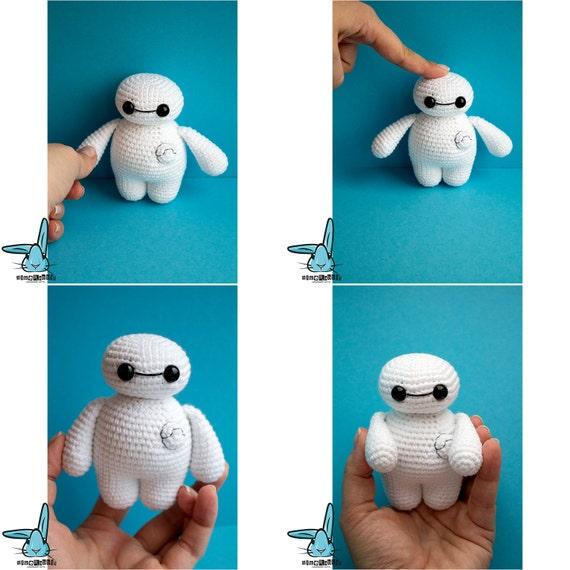 Crochet Amigurumi Baymax Pattern : Crochet Baymax Big Hero 6 character crocheted by BlueRabbitLV