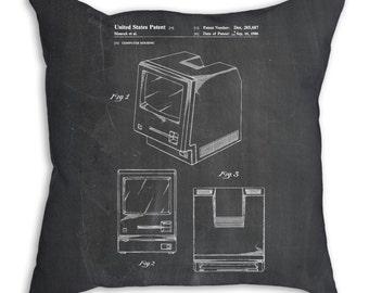 First Apple Computer Pillow, Apple Patent, Apple Pillow, Tech Gift, Computer Geek Gift, PP0176