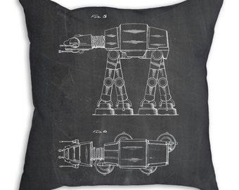 Star Wars AT-AT Patent Pillow, Star Wars Gift, Starwars Decor, Star Wars Pillow, Starwars Pillow, PP0224
