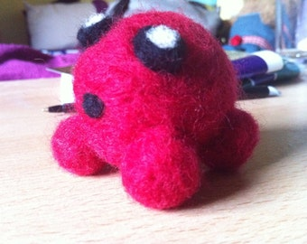 Felted Super Meat Boy C.H.A.D Kawaii/Cute Plush