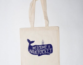 Nantucket Welcome Bag (10), Wedding Welcome Bag, Canvas Tote, Welcome to Nantucket Bag, Hello Bag, Guest Bag, Gift Bag, Hotel Bag, Favor Bag