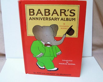 1981 Babar The Elephant 50th Anniversary Album First 6 Babar Stories Illustrated