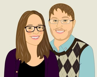 Couple Portraits. Digital file or stretched canvas.