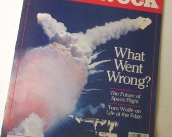 NEWSWEEK MAGAZINE Space Shuttle Explosion February 10, 1986 NASA Outer Space Tragedy in Sky