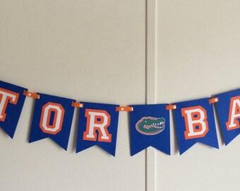 Football Florida Gators inspired banners