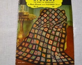 Vintage Bear Brand Crochet Afghan Instruction Booklet Magazine Undated PanchosPorch