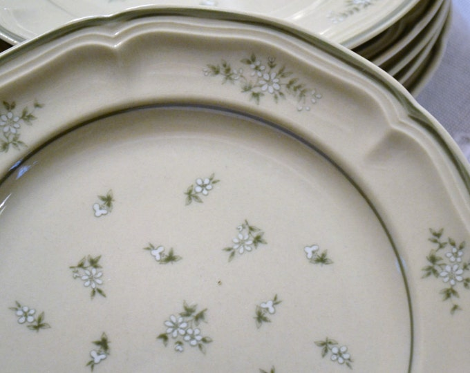 Newcor Candlelight Salad Plate Set of 6 Japan Gray White Flowers Replacement PanchosPorch